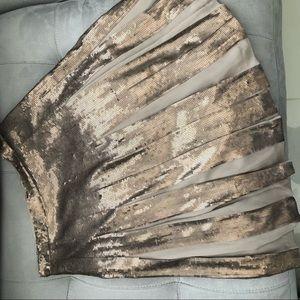 BCBG Sequin Pleated Skirt